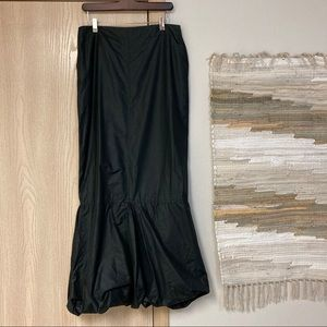 Dina Bar-El Black Artsy Bustle maxi skirt sz Large